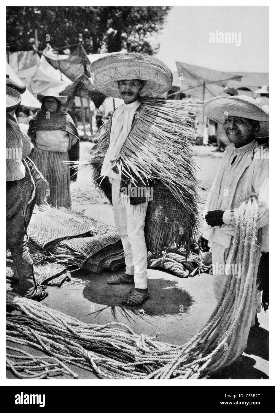 1927  Mexican Market Puebla State Mexico - Stock Image