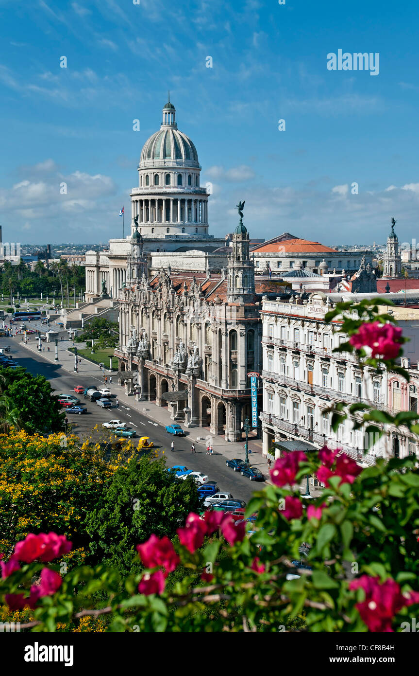 Capital Building Grand Theatre Havana Cuba - Stock Image