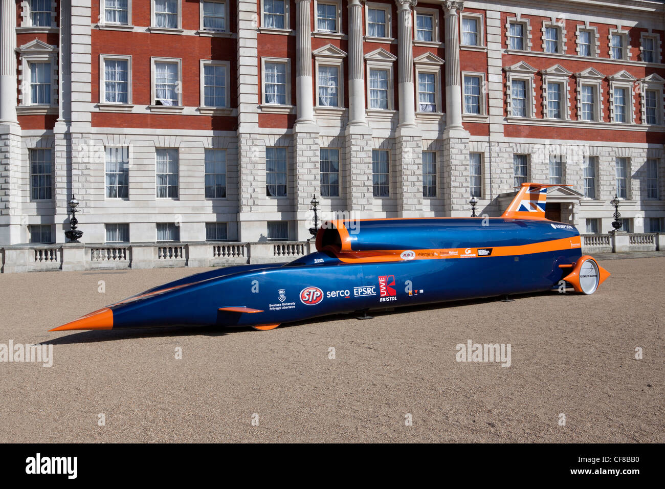 Bloodhound SSC supersonic car, London, England, UK - Stock Image