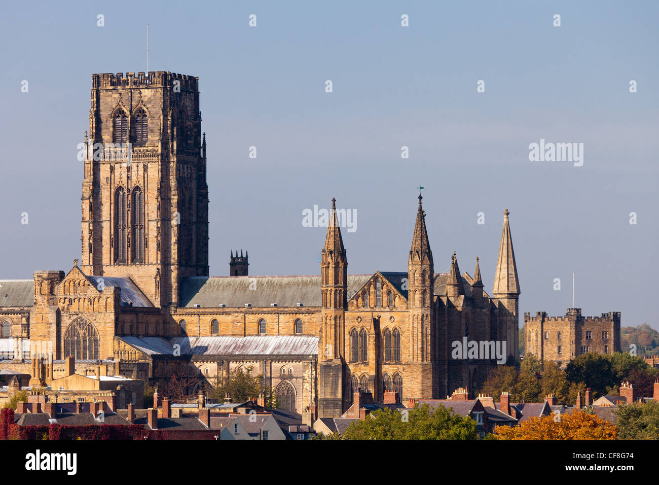 Durham Catherdial and Castle Durham England - Stock Image