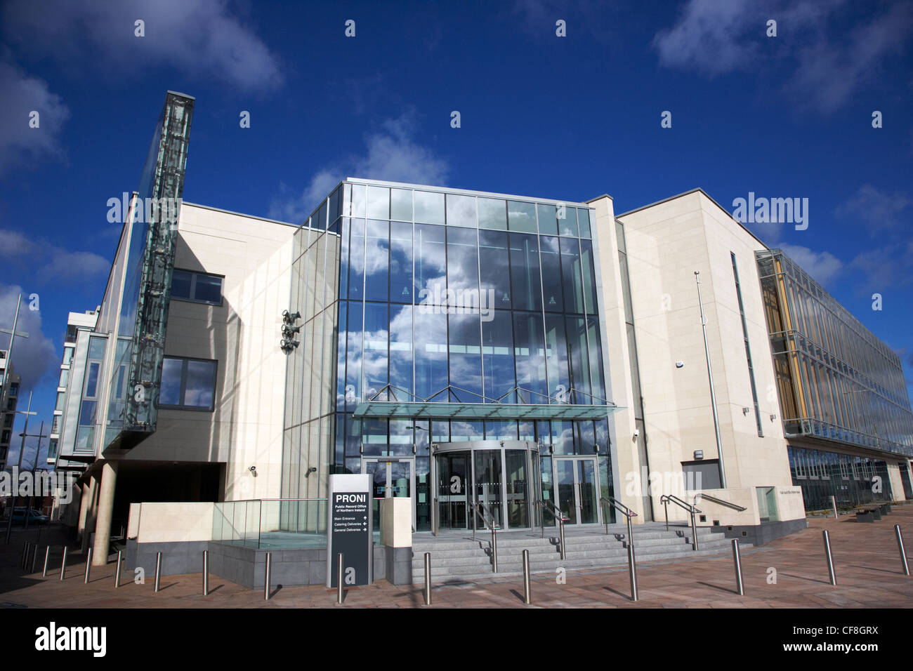 proni public record office of northern ireland titanic quarter Belfast Northern Ireland UK - Stock Image