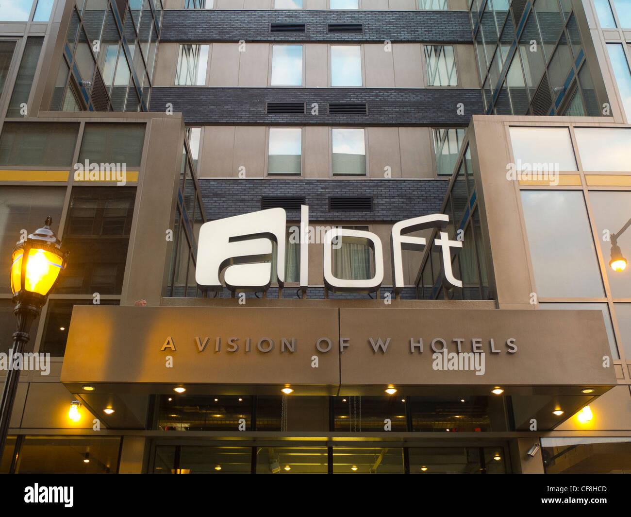 Aloft New York hotel in Brooklyn NYC - Stock Image