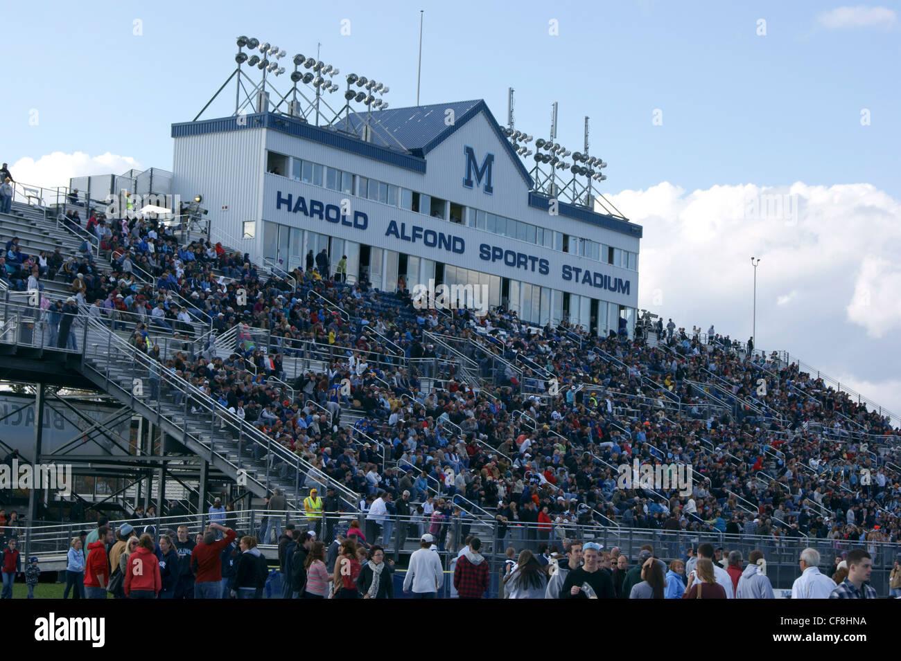 Harold Alfond Sports Stadium, University of Maine, Orono, Maine. - Stock Image