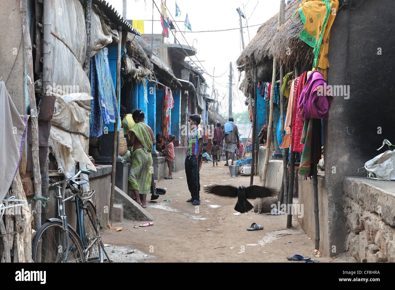 Village of Fisher Folks in Chilika, Orissa. - Stock Image