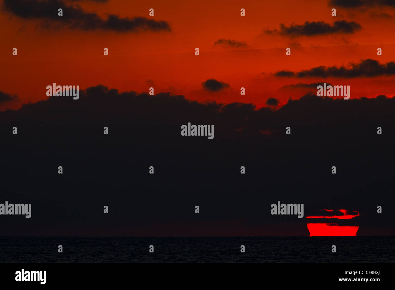 Epic sunset, Rio Nexpa, Mexico - Stock Image