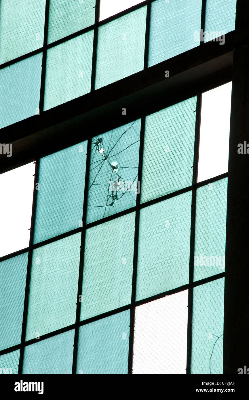 Bullet Holes In Glass Window Stock Photos & Bullet Holes In Glass ...
