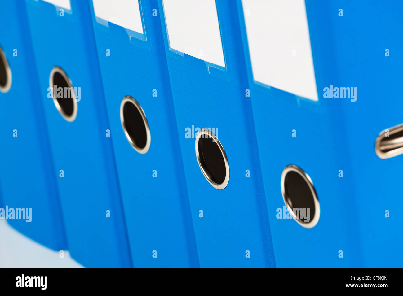 binders filled with documents and documents. retention of contracts. - Stock Image