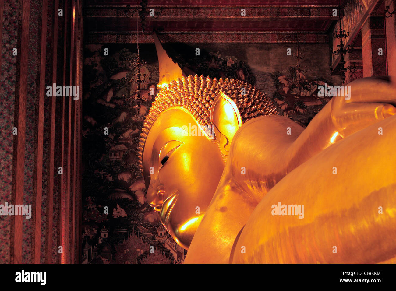Architecture, building, Art, Asia, Asian, Thailand, Thai, South East Asia, travel, destinations, Wat Pho, Wat Pho - Stock Image