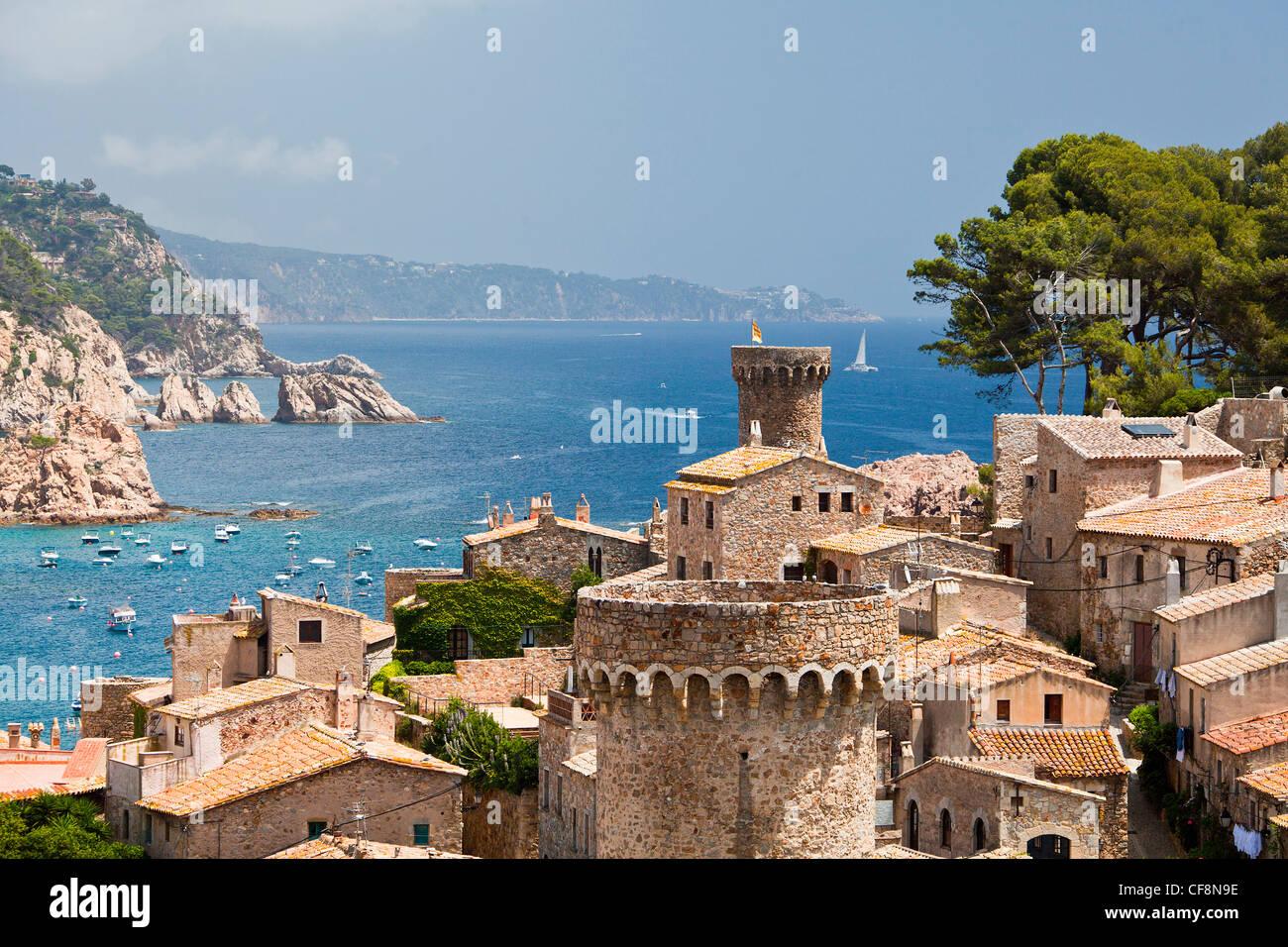 Spain Europe Girona Province Costa Brava Coast Tossa De Mar