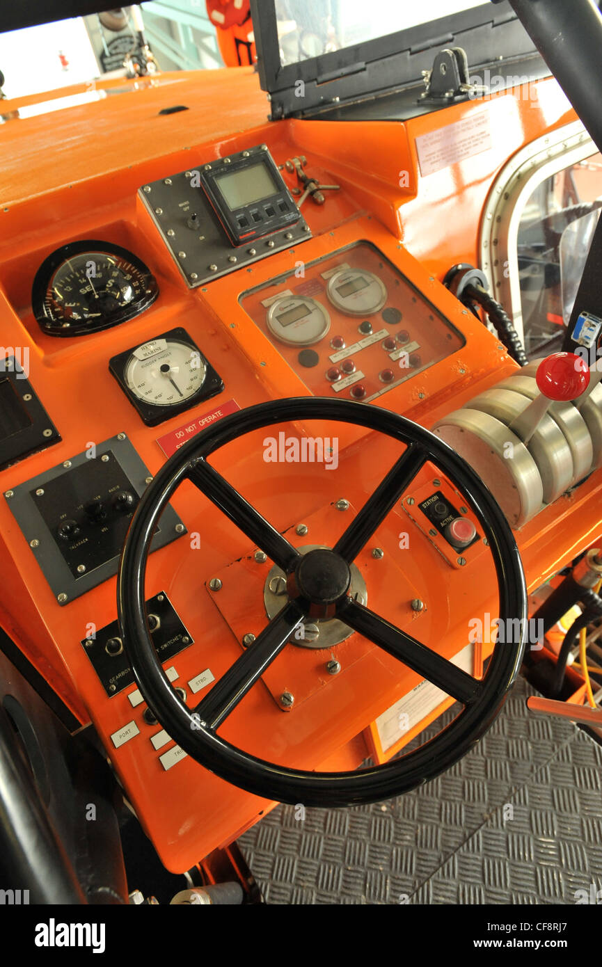 Helm of RNLI Lifeboat - Stock Image