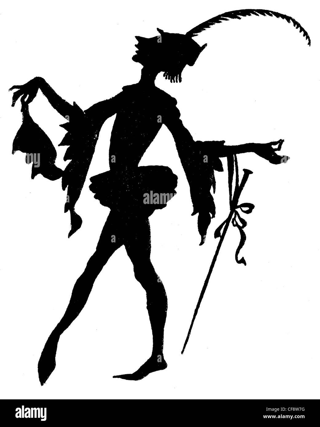 The Sleeping Beauty Arthur Rackham 1920 wicked fairy witch fairy fairies book magic magical myth spindle legend - Stock Image