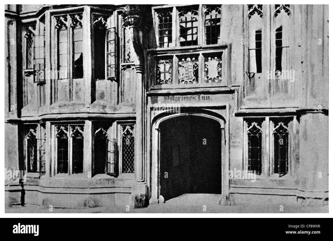 Glastonbury George Hotel and Pilgrims' Inn 15th century public house pub tavern Grade I listed building Somerset - Stock Image