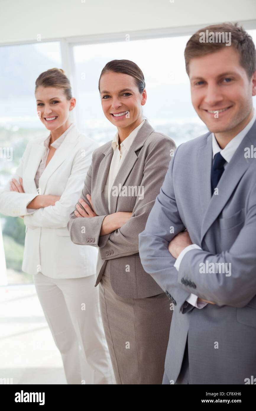 Public relations agency introducing itself - Stock Image