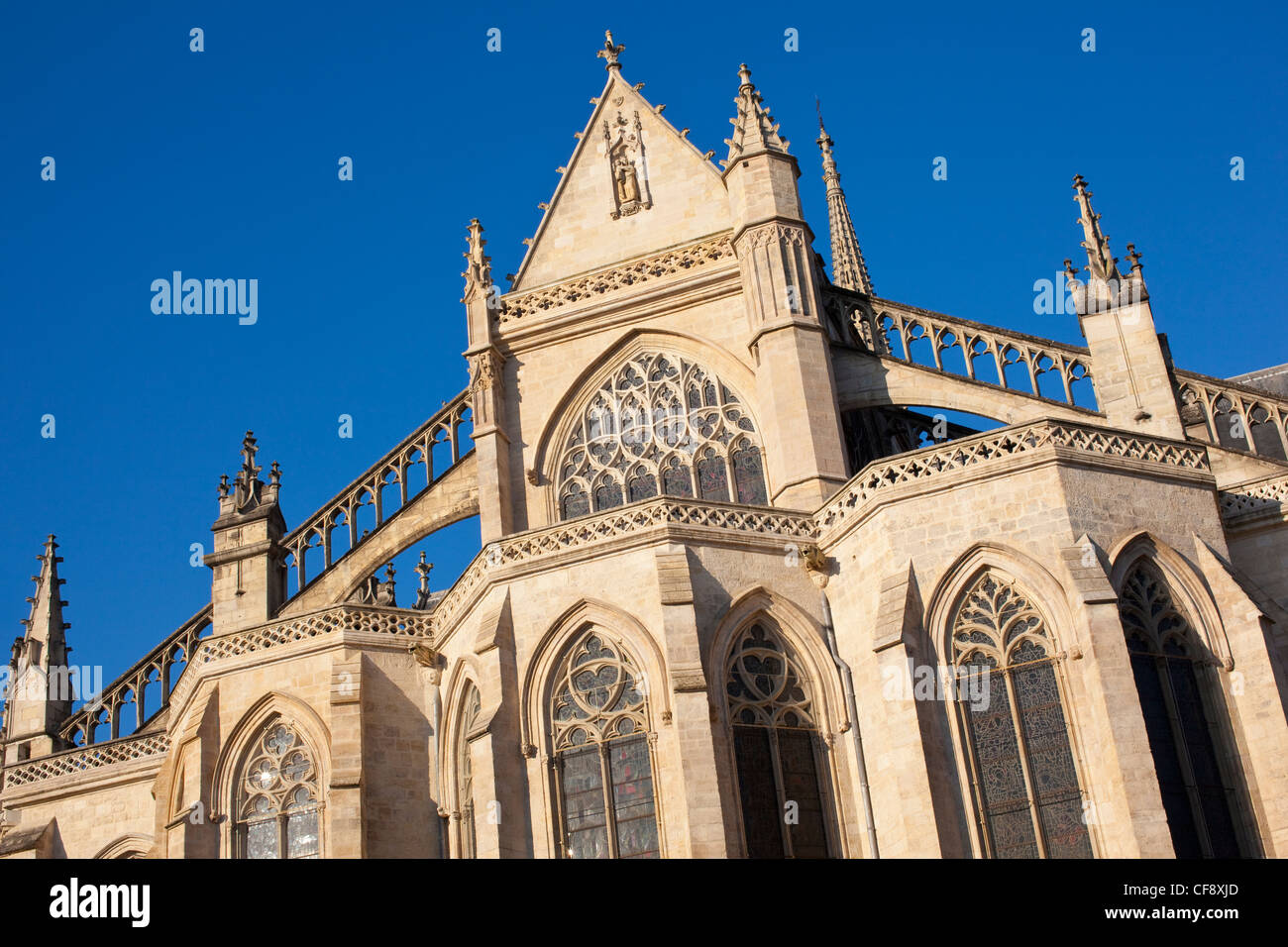 The Basilica of St. Michael, Bordeaux, Gothic church in Bordeaux, France. - Stock Image