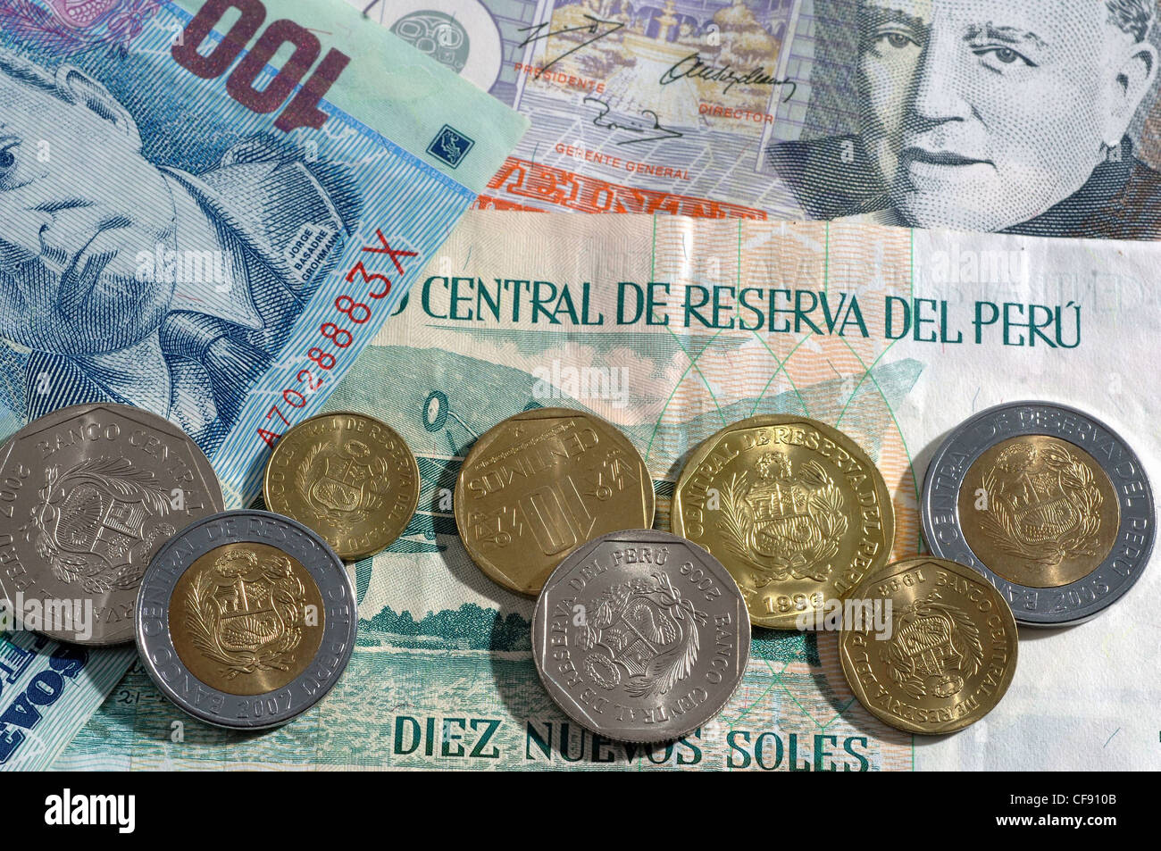 Peru currency stock photos peru currency stock images alamy money notes coins colorful centimos currency peru stock altavistaventures Images