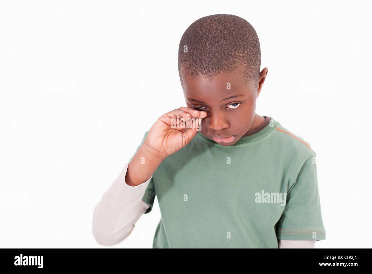 Little boy crying - Stock Image