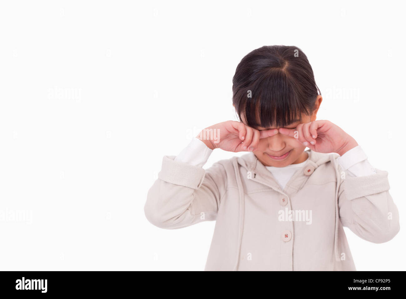 Little girl crying - Stock Image