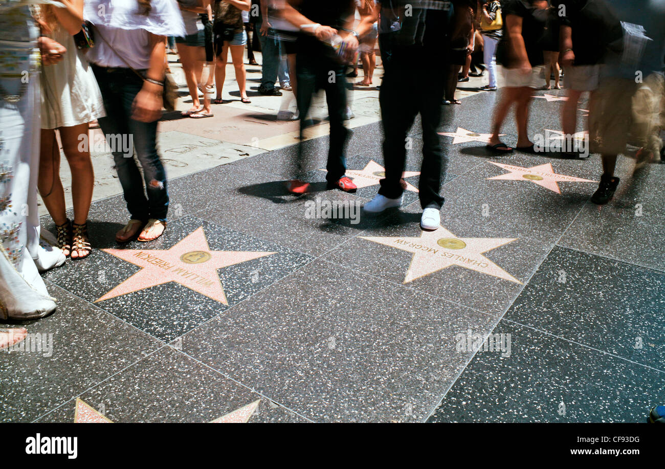 Walk of Fame, Hollywood Boulevard, Los Angeles, California, USA - Stock Image