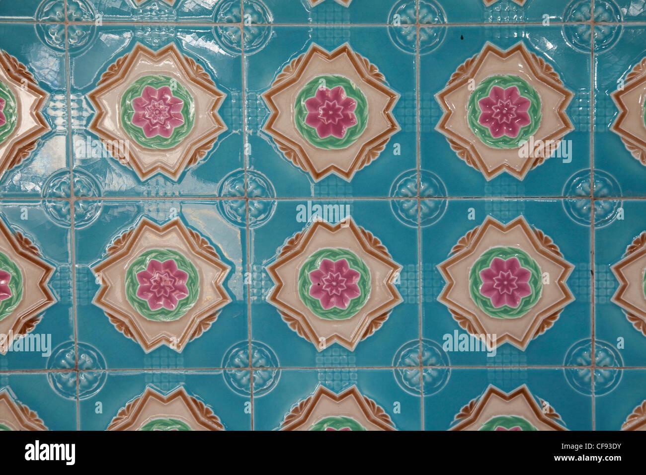 Vintage wall tiles Club Sreet area - Stock Image