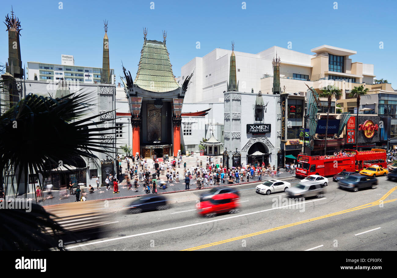 Grauman's Chinese Theatre, Hollywood Boulevard, Hollywood, Los Angeles, California, United States of America - Stock Image