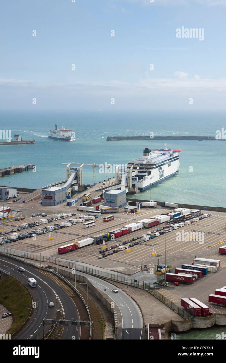 Port of Dover harbour/docks, Kent, England, UK - Stock Image