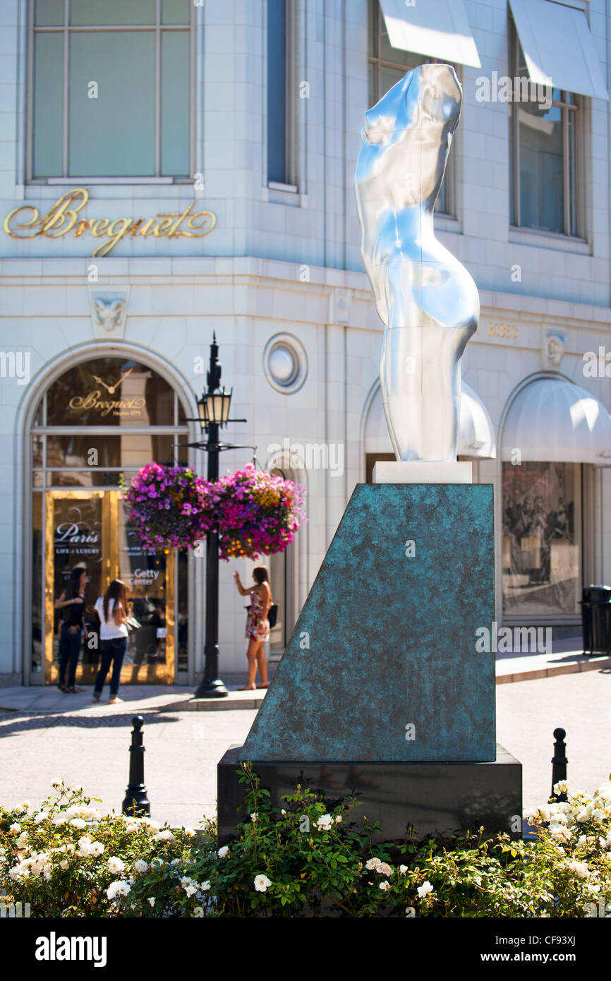 Rodeo Drive, Beverly Hills, Los Angeles, California, USA, United States of America - Stock Image