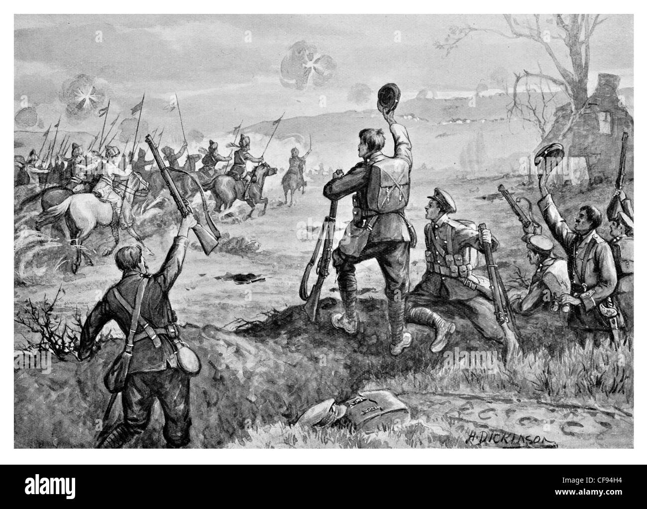 Charge of Indian Cavalry - Stock Image
