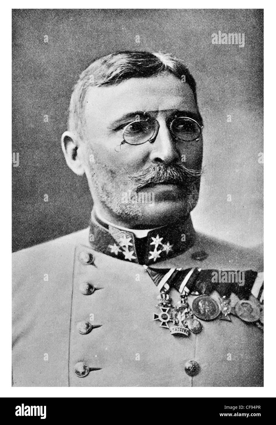 Moritz Freiherr von Auffenberg, Graf von Komarów, born Moritz Ritter von Auffenberg (May 22, 1852, Opava, Austrian - Stock Image