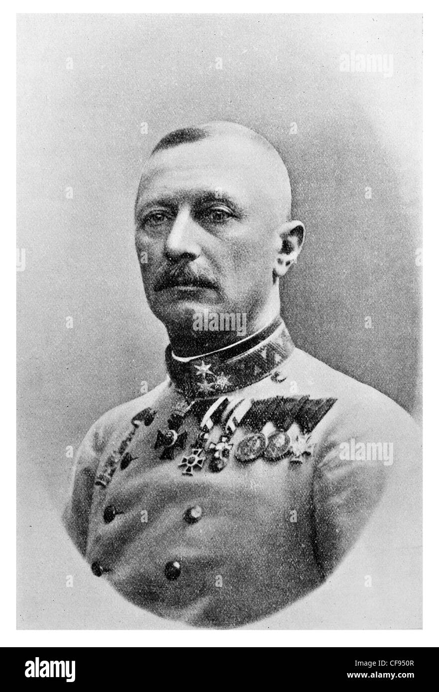 General Oskar Potiorek officer of the Austro-Hungarian Army, who served as Governor of Bosnia and Herzegovina - Stock Image
