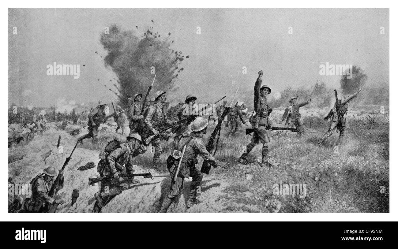 Attack by Ulster Division 1st July 1916 somme Stock Photo