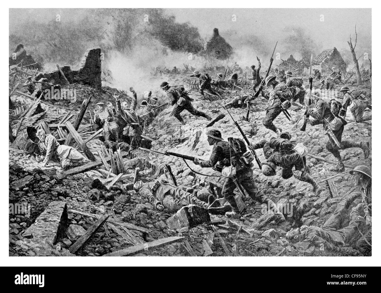 London Territorials Battle of Pozières, which was part of the Battle of the Somme.23 July–7 August 1916 - Stock Image