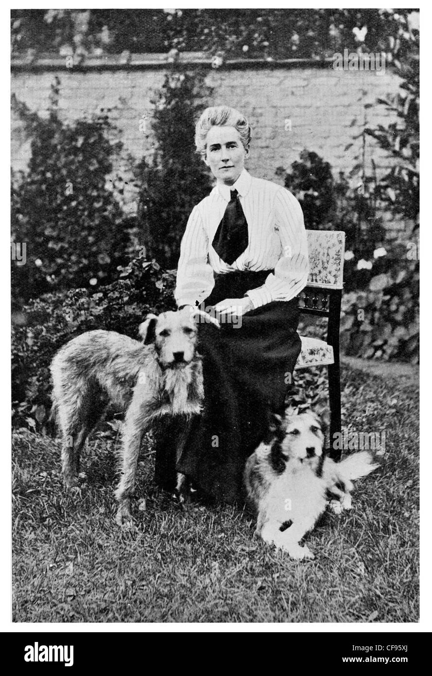 Miss Edith Louisa Cavell  British nurse and humanitarian executed in First World War. - Stock Image