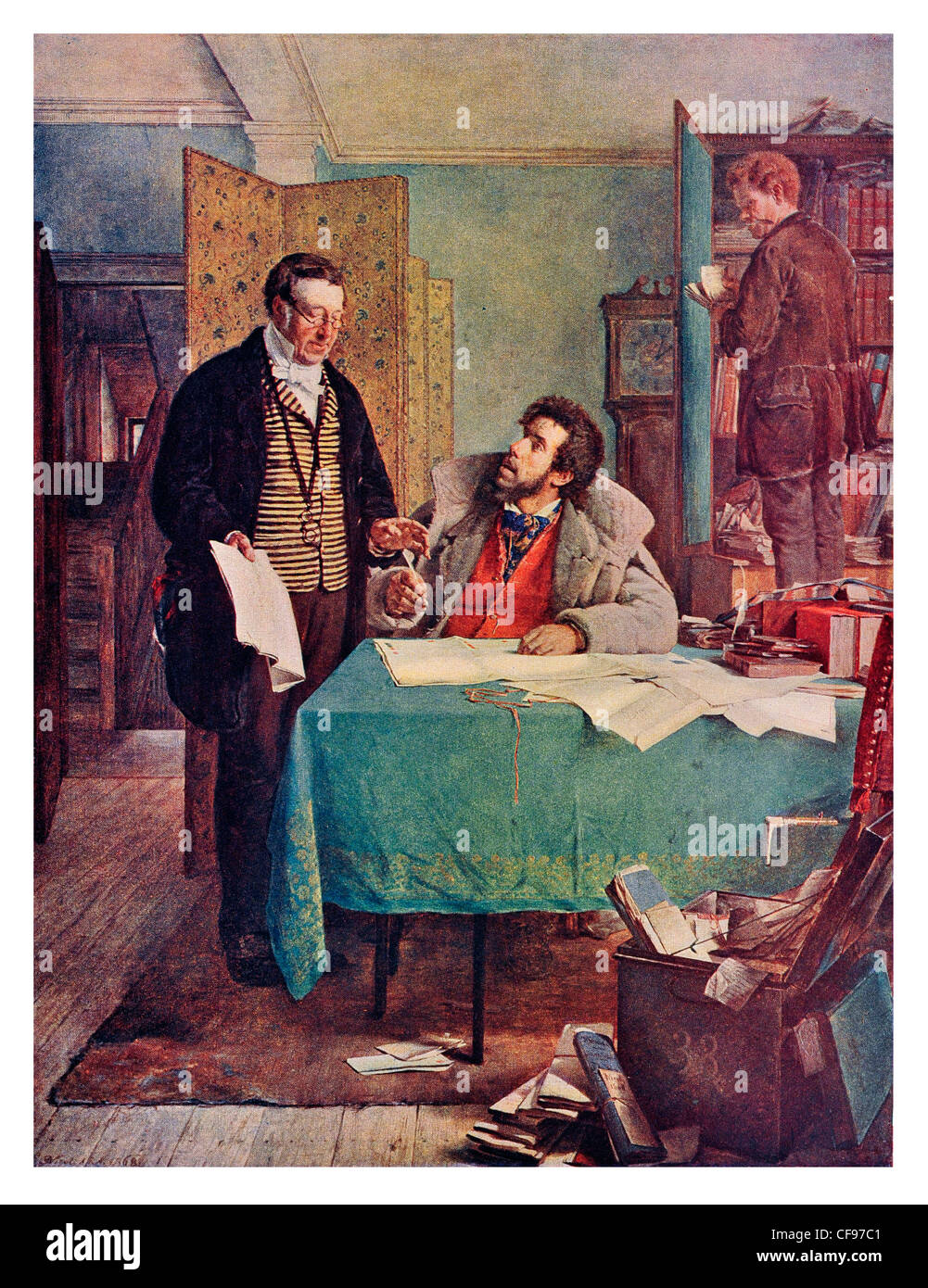 Signing the New Lease by Erskine Nicol - Stock Image