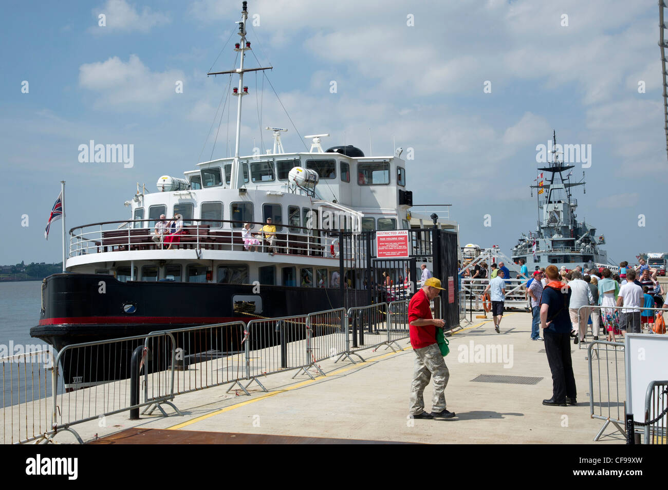 The Pier Head ferry terminal  beside Albert Dock on the waterfront of the River Mersey. - Stock Image