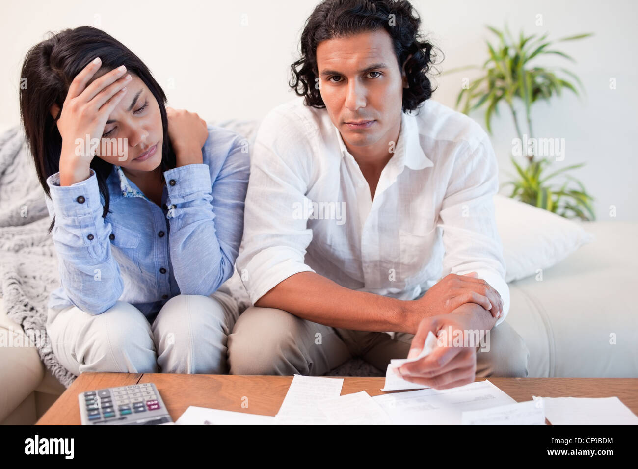 Couple experiencing financial problems - Stock Image