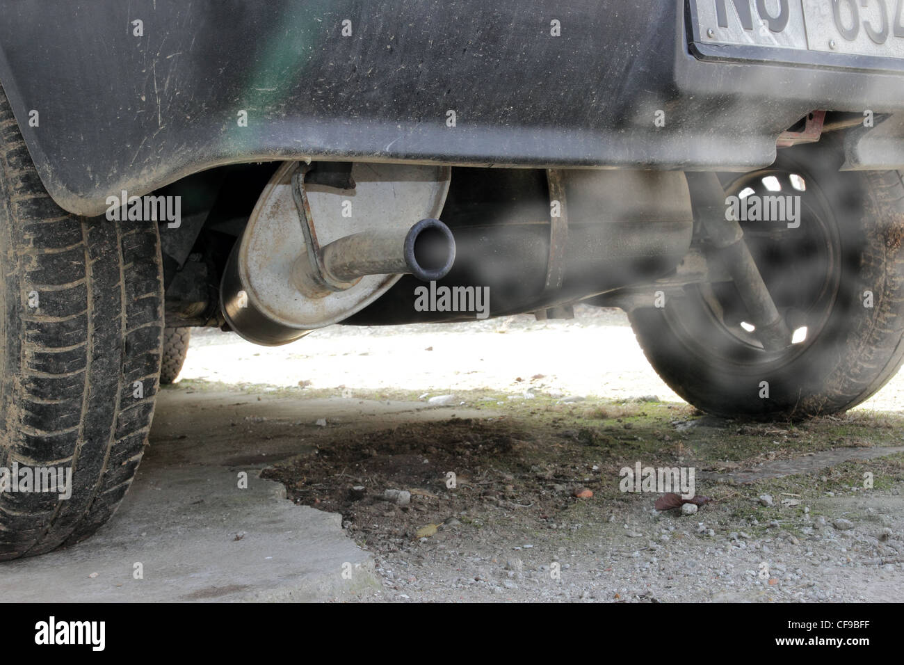 exhaust pipe of a small old car & exhaust pipe of a small old car Stock Photo: 43847203 - Alamy