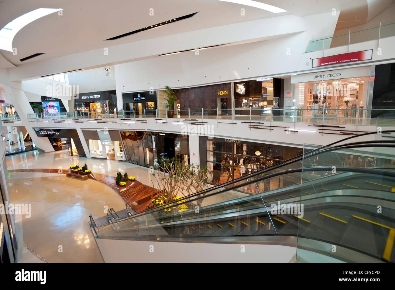 Crystals Luxury Shopping Mall at CityCenter, Paradise, Las Vegas Strip, USA Stock Photo