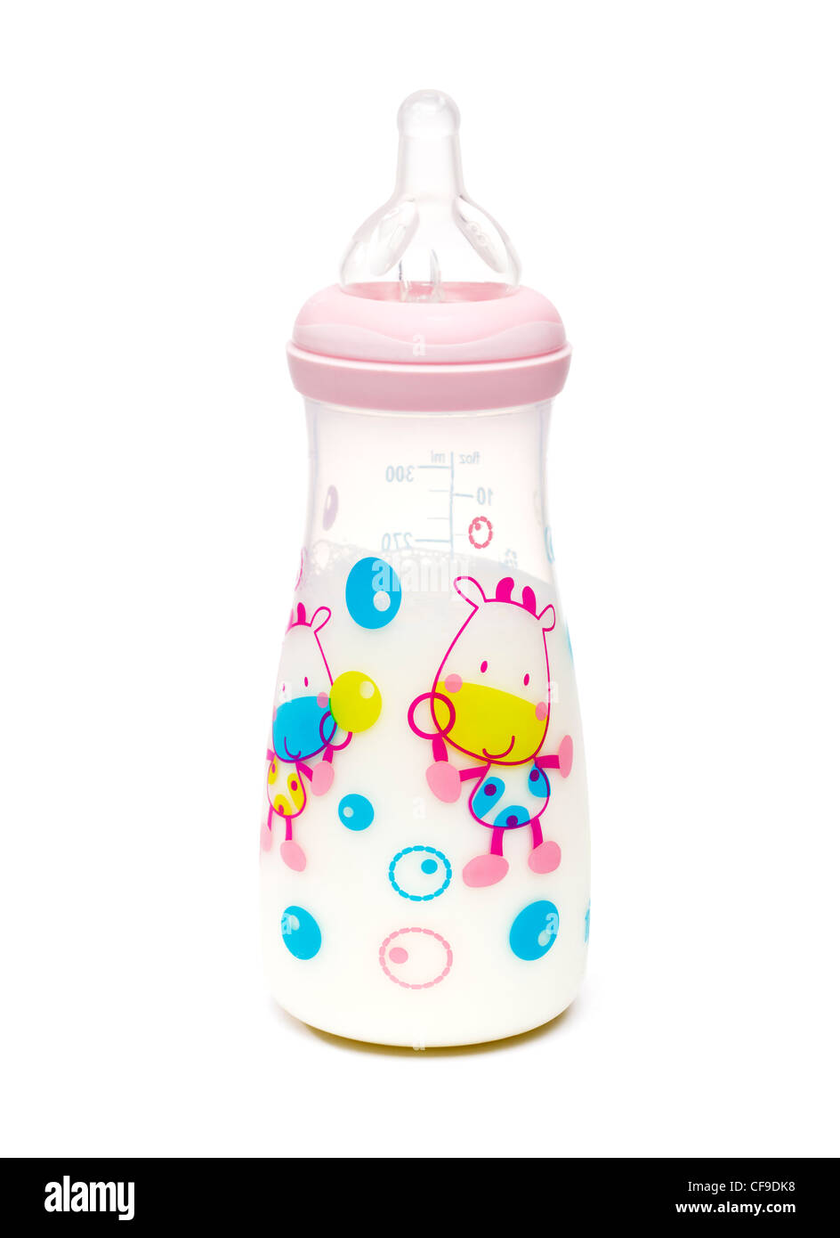 Baby bottle with milk - Stock Image