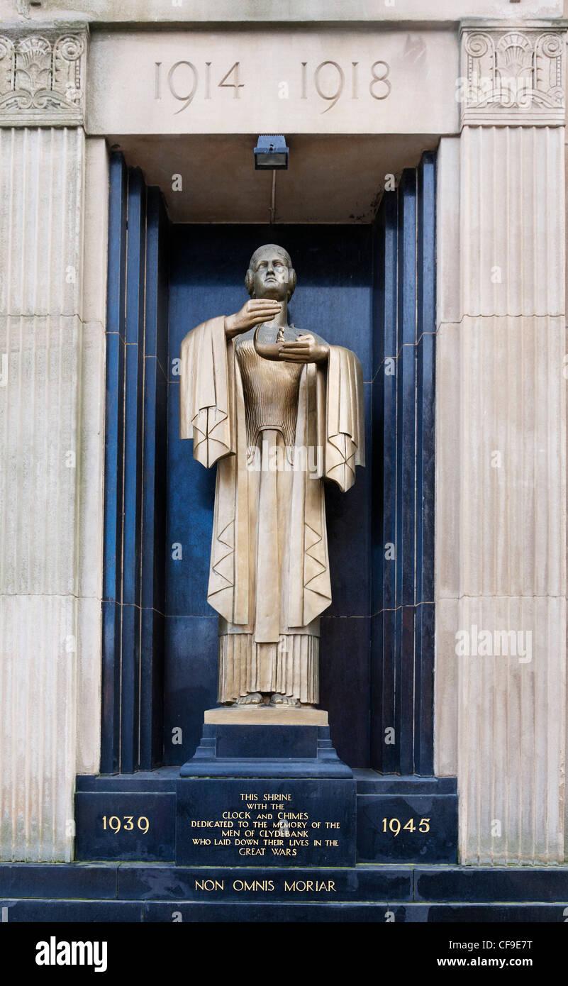 The war memorial at Clydebank, West Dumbartonshire, Scotland. - Stock Image