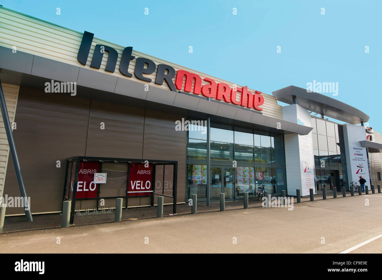 inter marche shop,romilly,pont st.pierre France - Stock Image