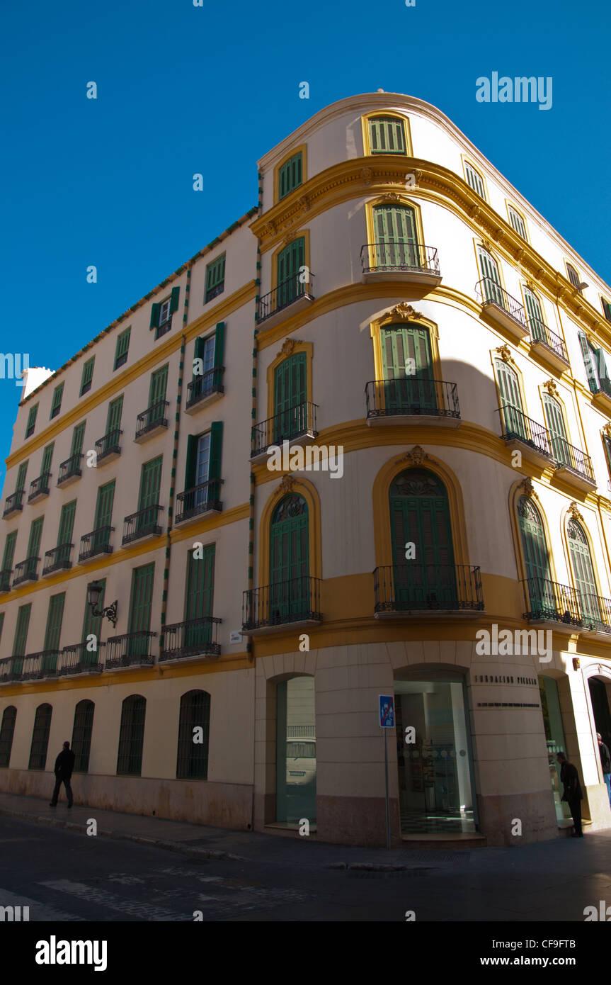 Casa Natal de Picasso the Picasso birthplace at Plaza de la Merced square central Malaga Andalusia Spain Europe - Stock Image