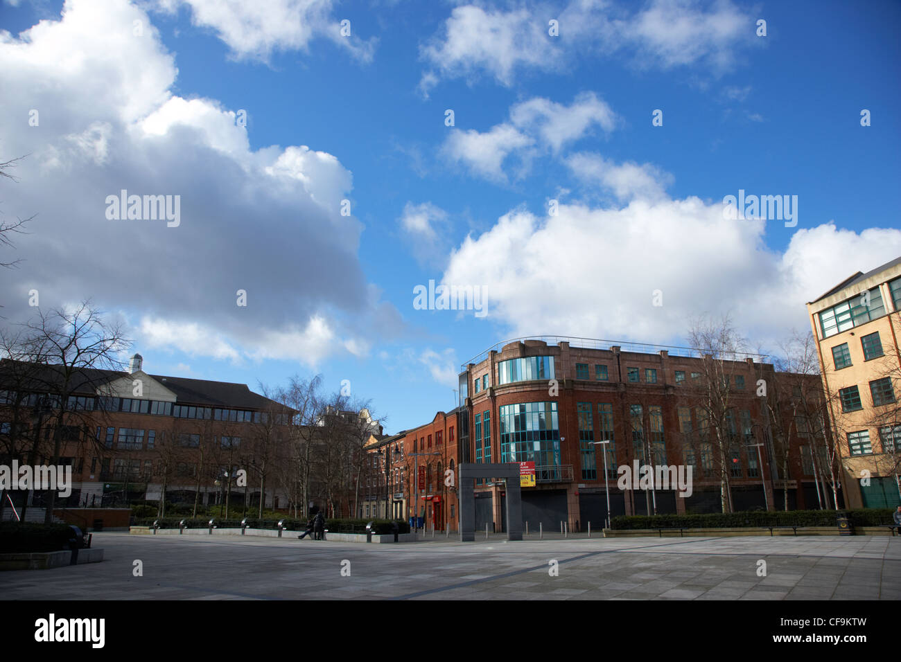 writers square in cathedral quarter Northern Ireland UK - Stock Image