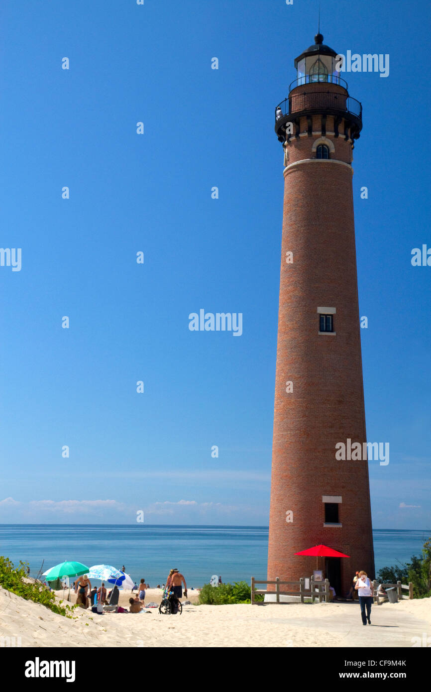 The Little Sable Point Light on Lake Michigan in Golden Township, Michigan, USA. - Stock Image