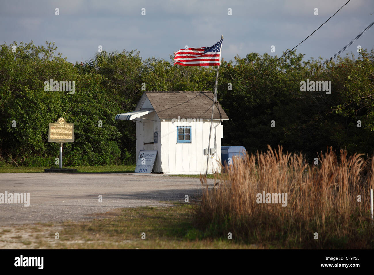 Ochopee Post Office, considered the smallest post office in the United States, Ochopee, Florida - Stock Image