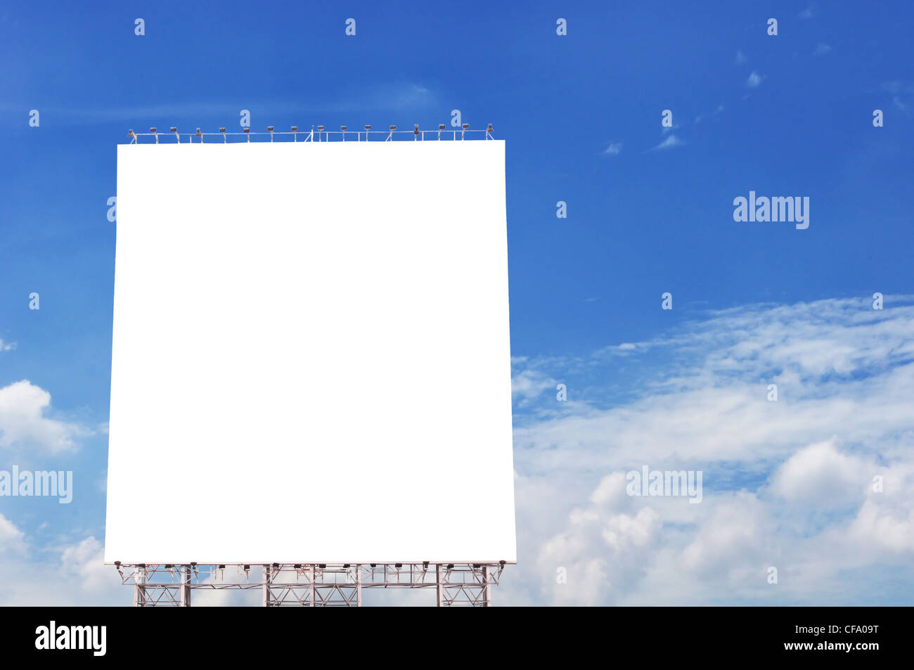 empty billboard with blue sky backgrounds. - Stock Image