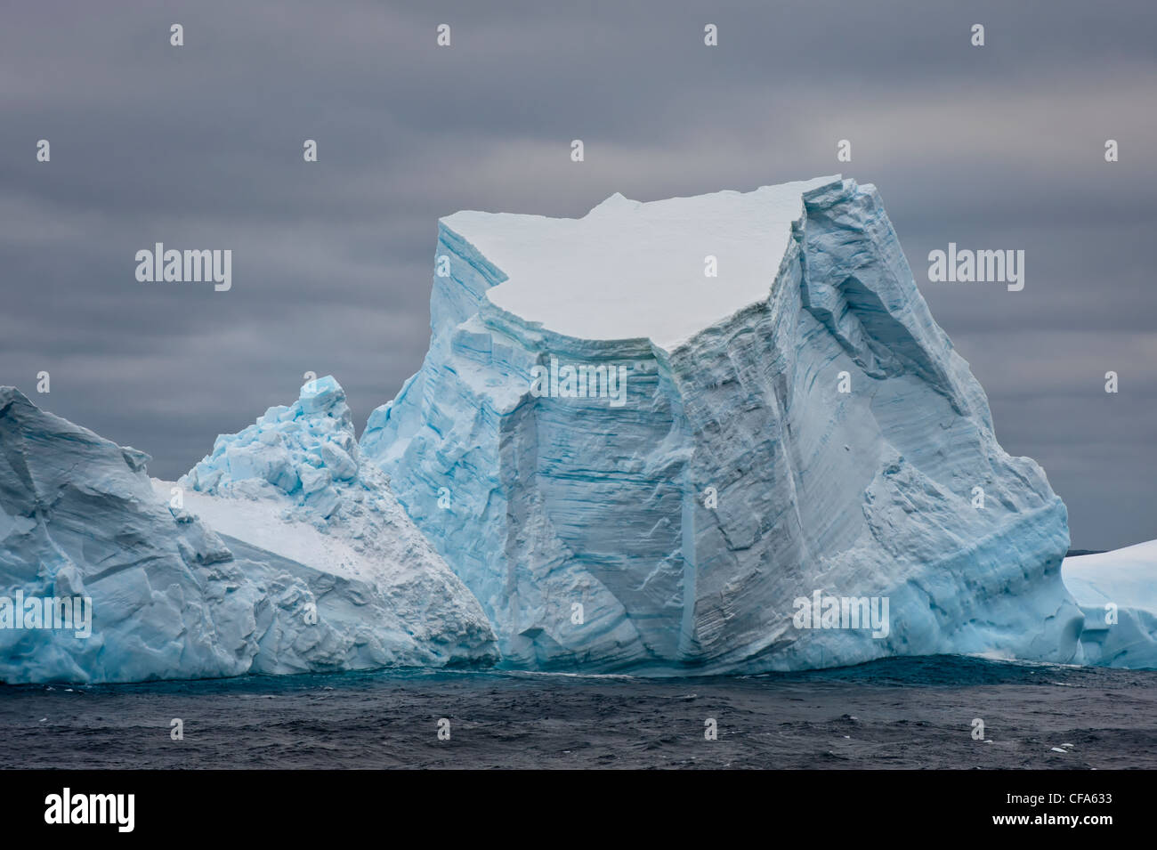 South Orkney Islands, Icebergs, Southern ocean - Stock Image