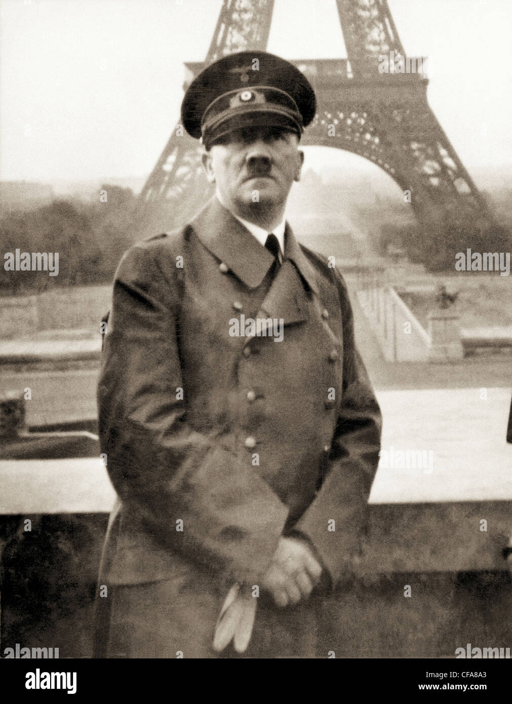 War, Europe, world war II, Nazi, National Socialist, Europe, world war, 1940, Paris, Hitler, Adolf Hitler, leader, - Stock Image