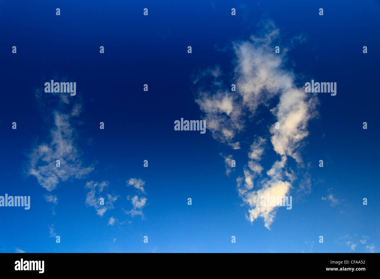 Sky, air, Scotland, cloud, fresh air, white clouds, weather, blue, knows - Stock Image