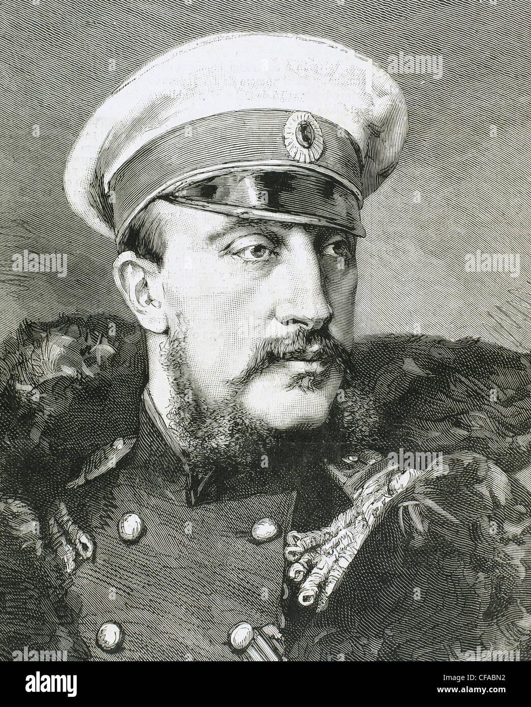 Grand Duke Konstantin Nikolayevich of Russia (1827-1892). Engraving. - Stock Image
