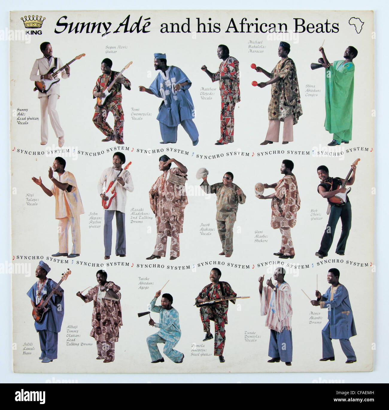 Sunny Ade and his African Beats, Synchro System album - Stock Image